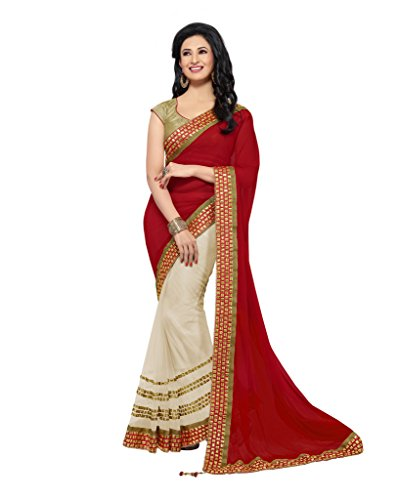 Mahotsav Women's Faux Chiffon , Net Art Silk Sarees ( 8113 )  available at amazon for Rs.1506