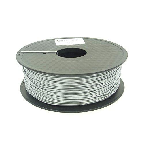 SIENOC 1 Packung 3D Drucker PLA 1.75mm Printer Filament - Mit Spule 1kg (Silber)