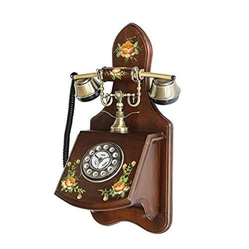 JFFFFWI Massivholz handbemalte Hängemaschine, Wandtelefon Outlet Garden Phone