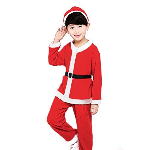 Bambini Natale Babbo Natale Costume Set di Abbigliamento per Bambini Ragazzo 120