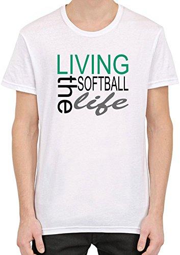 Living The Softball Life Funny Slogan Männer T-Shirt
