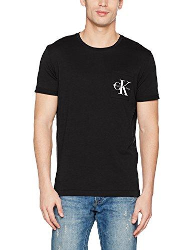 Calvin klein jeans bolan re, t-shirt uomo, nero (ck black), large