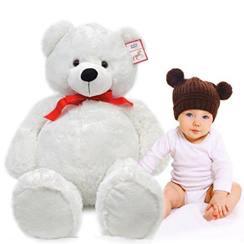 Riesen-Teddy Karlchen, 100cm XXL Plüschbär in polar-weiß – ein XXL Teddybär zum Liebhaben von Pink Papaya Toys