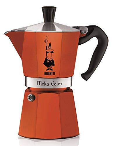 Bialetti Moka Express - Cafetera italiana, capacidad para 6 cupas, color rojo