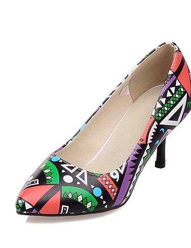 WSS 2016 Chaussures Femme-Bureau & Travail / Habillé / Décontracté-Jaune / Rouge-Talon Aiguille-Talons / Confort / Bout Pointu-Talons-Polyuréthane yellow-us8 / eu39 / uk6 / cn39