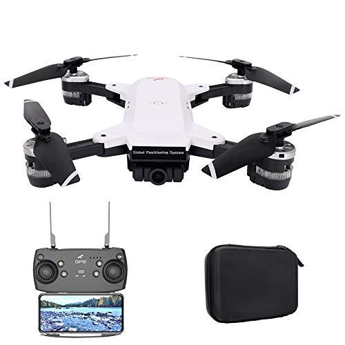 DingLong Drohne YH-19G Faltbare GPS/Glonass Drohne mit 1080P 120° FPV WiFi Kamera HD Live übertragung - Return Home - Follow Me,Quick Shot RC Helikopter,Anfänger und Experte,Tragetasche 15-17 mins