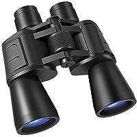 Prismáticos 10 x 50 para Adultos, HD Compactos Prismáticos con Lente FMC y BAK4 Pájaros Viendo Niños Prismáticos Impermeable 138m Campo de Visión y 1000m de Distancia