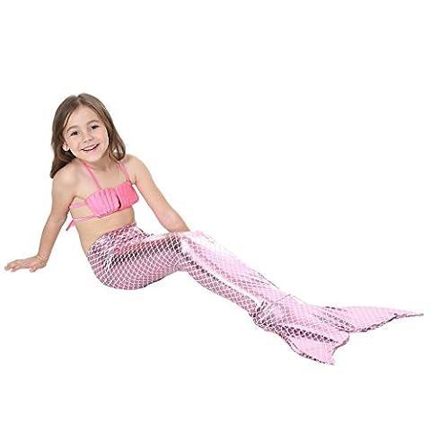 Mermaid Costume - MEIHAOWEI Kids Girls Fancy Mermaid Tail Bikini