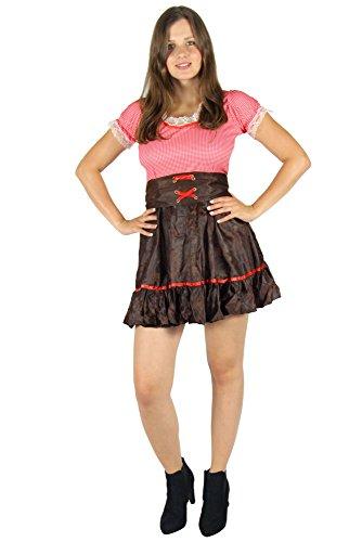 Foxxeo Cowboy Kostüm für Damen - Größe XS - XXL -sexy Cowgirl Western Kleid zu Karneval und Fasching Größe - Sexy Cowboy Kostüm
