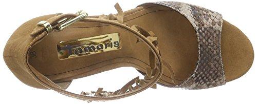 Tamaris Ladies 28393 Cinturino Alla Caviglia Marrone (cognac Comb 392)