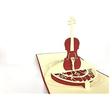 Violine Popup Karte Musik Notizen Grußkarte: Amazon.de: Bürobedarf ...