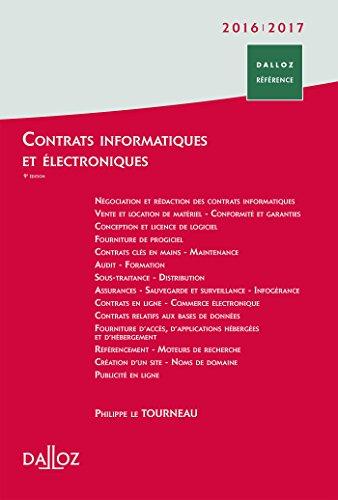 Contrats informatiques et électroniques 2016/2017