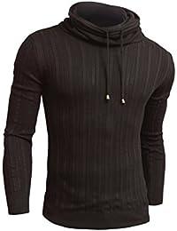 D&R Fashion - Pull -  - Uni - Manches longues Homme Noir Noir moyen