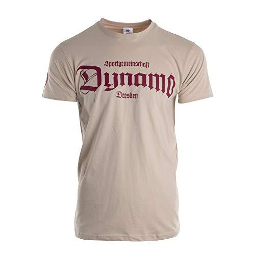 SG Dynamo Dresden T-Shirt Old School beige, Größe:XL