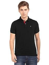 Arrow Sports Mens Regular Fit T-Shirt (AREK0254_Black_Small)