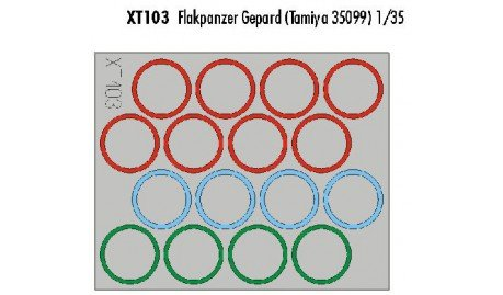 Eduard Accessories xt103Tanque de construcción Accesorios Flak Guepardo Wheel Mask