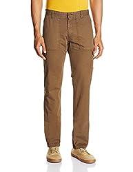 IZOD Mens Casual Trousers (8907163580030_ZKTR0056_30W x 34L_Brown)