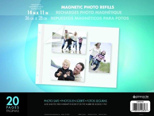 Pinnacle Rahmen 11von 35,6cm magnetisch nachfüllbar Fotoalbum, Groß - Frame-8x10 Bild Magnetische