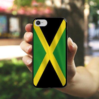 Apple iPhone X Silikon Hülle Case Schutzhülle Jamaica Jamaika Flagge Hard Case schwarz