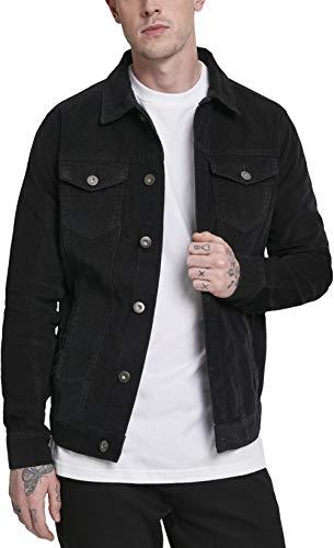 Urban Classics Herren Jeansjacke Jacke Corduroy Jacket, Schwarz (Black 00007), X-Large (Herstellergröße: X-Large)