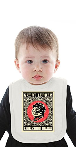 Great Leader - Chairman Meow Funny Organic Bib With Ties Medium (Bib Leader)