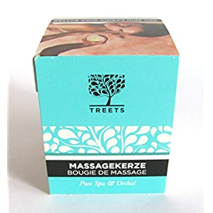 Massage Kerze Spa Orchid mit natürlichen Inhaltstoffen Vegan 140g