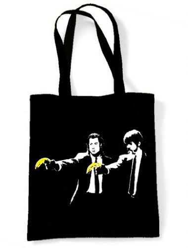 Banksy Pulp Fiction Tote / Shoulder Bag