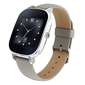 "ASUS WI502Q(BQC)-1LKHA0012 - Smartwatch de 1.45"" (Qualcomm Snapdragon, 512 MB RAM, 4 GB eMMC, Bluetooth, WiFi, Android Wear, acero inoxidable), caqui"