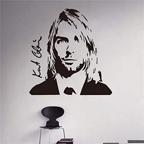 Rockstar Singer Music Studio Aufkleber Rock Wall Art Design Wandaufkleber U 58 X 60 CM (Ein Hoch Fußballtor Ist Wie)