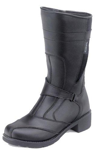 Preisvergleich Produktbild Virginia Damen Motorradstiefel Motorrad Stiefel Textil/Leder-Mix Schwarz 36-42, Schwarz, 41 EU