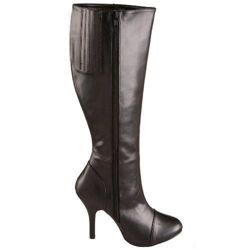 Heels Club Stile Vittoriano Burlesque Costume Stivali Blk Pu