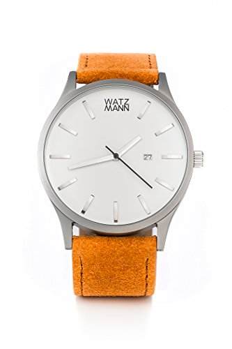 WATZMANN watch // white edition - minimalistische Herrenuhr - Schweizer Uhrwerk