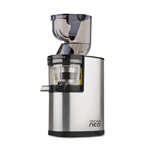 Oscar Neo XL Whole Slow Juicer - extractor de zumo de boca ancha, cold press juicer, 250W, Acero Inoxidable y BPA Free. Garantía DE POR VIDA