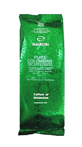 The Nairobi Coffee and Tea Company Pure Colombian (227g Decaffeinated) / Caffè macinato Puro Colombia decaffeinato 227g