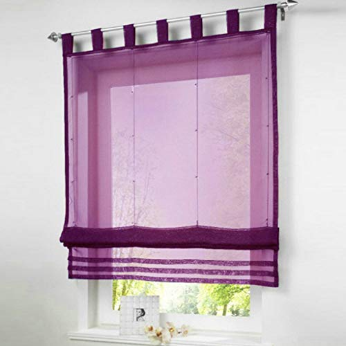 Eastery Uni Faltrollo Voile Roman Blind with Loops