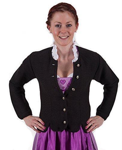 Trachten Jacke , schwarz, Trachtenjacke, Dirndljacke, Dirndl-Jacke,Trachten Janker für Damen Größe 32
