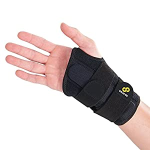BRACOO WB30 Guardian reversible Handgelenkschiene – Handgelenkschoner | Ergonomische Handgelenkbandage mit herausnehmbarer Schiene – passt rechts & links