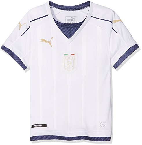 PUMA Herren Trikot FIGC Italia Tribute Away Shirt Replica, weiß-White/Peacoat, M - Nationalmannschaft Trikot Italienische