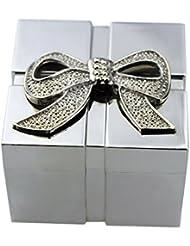 Joyero, en forma de cuadrado de la caja de joyería de acero inoxidable FGF RKS-JB019