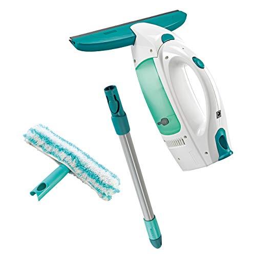 Leifheit Set aspirador limpiacristales Dry & Clean con palo y limpiaventanas para una limpieza 360º...