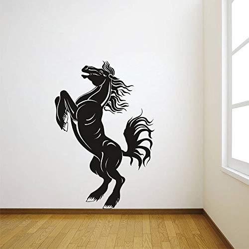 jiuyaomai 40 Farben Vinyl wandaufkleber muraux Pferd Muster abnehmbare wandtattoo Wohnzimmer esszimmer Schlafzimmer Wand dekor 42x62cm