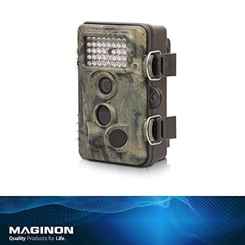 Maginon Wildkamera WK 4 HD, 12MP 1080P mit Infrarot-Nachtsicht bis zu 65 Fuß/20 m IP54 Spritzwassergeschützt für Outdoor-Natur, Garten, Haussicherheitsüberwachung