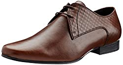 Franco Leone Mens Tan Leather Formal Shoes - 10 UK/India (44 EU)