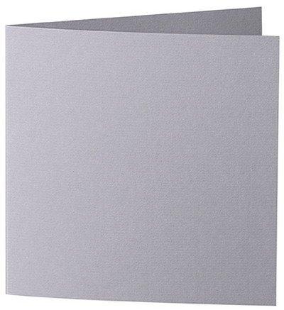 50 Stück // Artoz Serie 1001 Doppelkarten gerippt // Quadratisch, 260 x 130mm, hochwertig, graphit