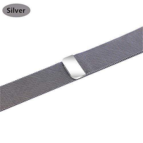QNJ cinturino milanese per cinturino 44mm 40mm 4 5 cinturino iwatch 42mm 38mm cinturino orologio acciaio inossidabile 5 4 3 2 accessori per 42mm e 44mm argento