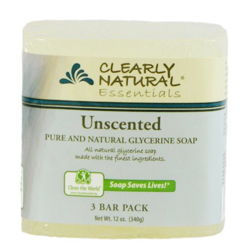 Clearly Natural Glycerine Bar Soaps Unscented, Unscented 3 bars