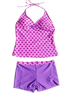 YiZYiF Kinder Mädchen Tankini Badeanzug Bikini Top mit Panties Shorts Badekleidung Set Gr. 110-176