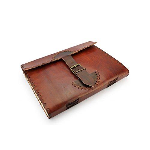 A.P. Donovan - Notizbuch Leder journal braun vintage DIN A4 - Buch zum reinschreiben - diary organizer - Tagebuch Leder DIN A4