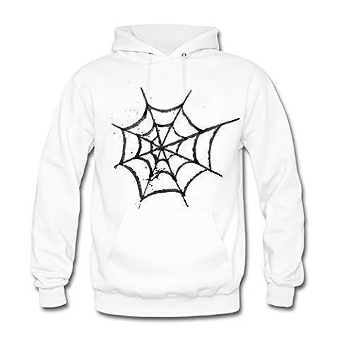 Men Sweatshirt Hoodie Cartoon Spider Web Logo Capuche Homme 3XL