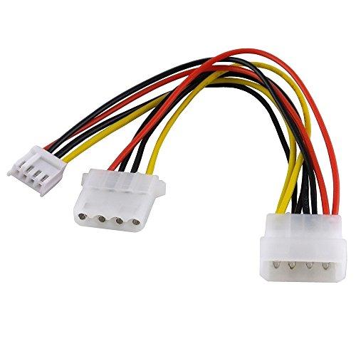 BestPlug 20cm internes PCI Y Strom-Kabel Adapter Verteiler Splitter Weiche für Computer, 1 5,25